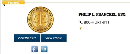 showing lawyer award benefits of directory listing of Million Dollar Trial Lawyers award