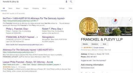 Million Dollar Trial Lawyer logo in Google maps