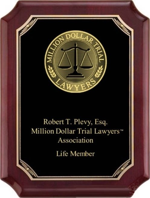 Million Dollar Trial Lawyers™ Wall Plaque brass on rosewood with piano gloss finish